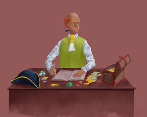 Martin dividing treasure