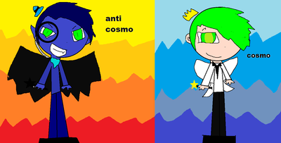 anti cosmo and regular cosmo by anitcosmowolf