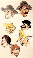 Western Faces by ReggieJWorkshop