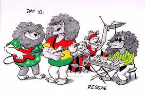Inktober (Day 10): Reggae