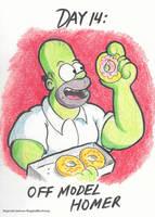 Drawtober (Day 14):Off Model Homer by ReggieJWorkshop