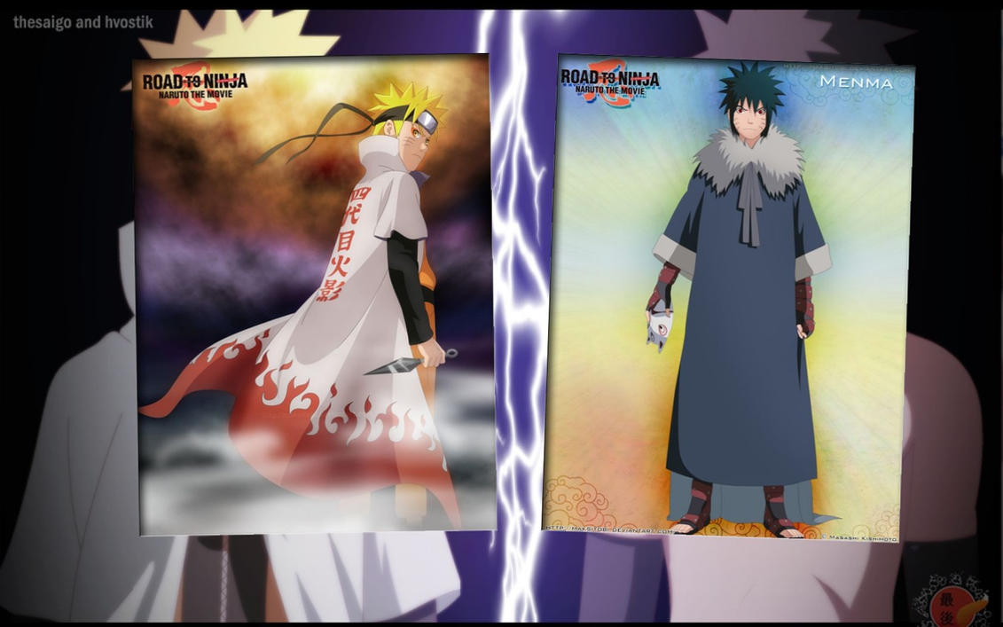Hokage Naruto vs Menma Naruto Wallpaper 2 by weissdrum