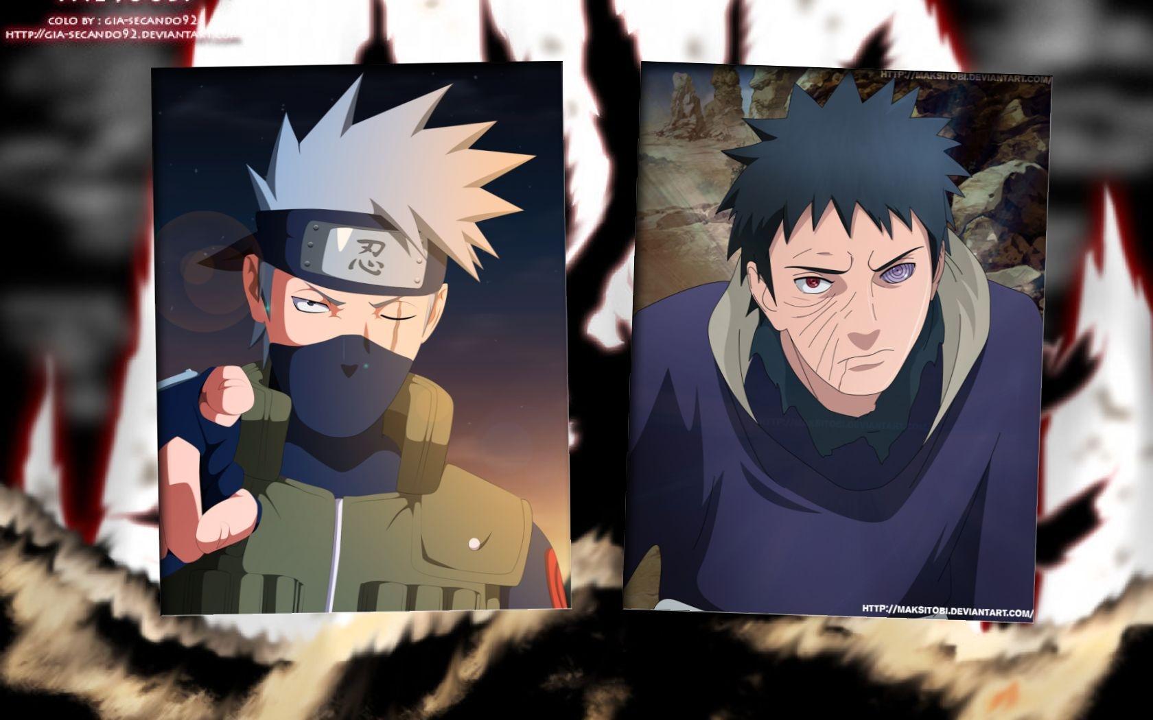 Kakashi vs Obito Wallpaper by weissdrum on DeviantArt