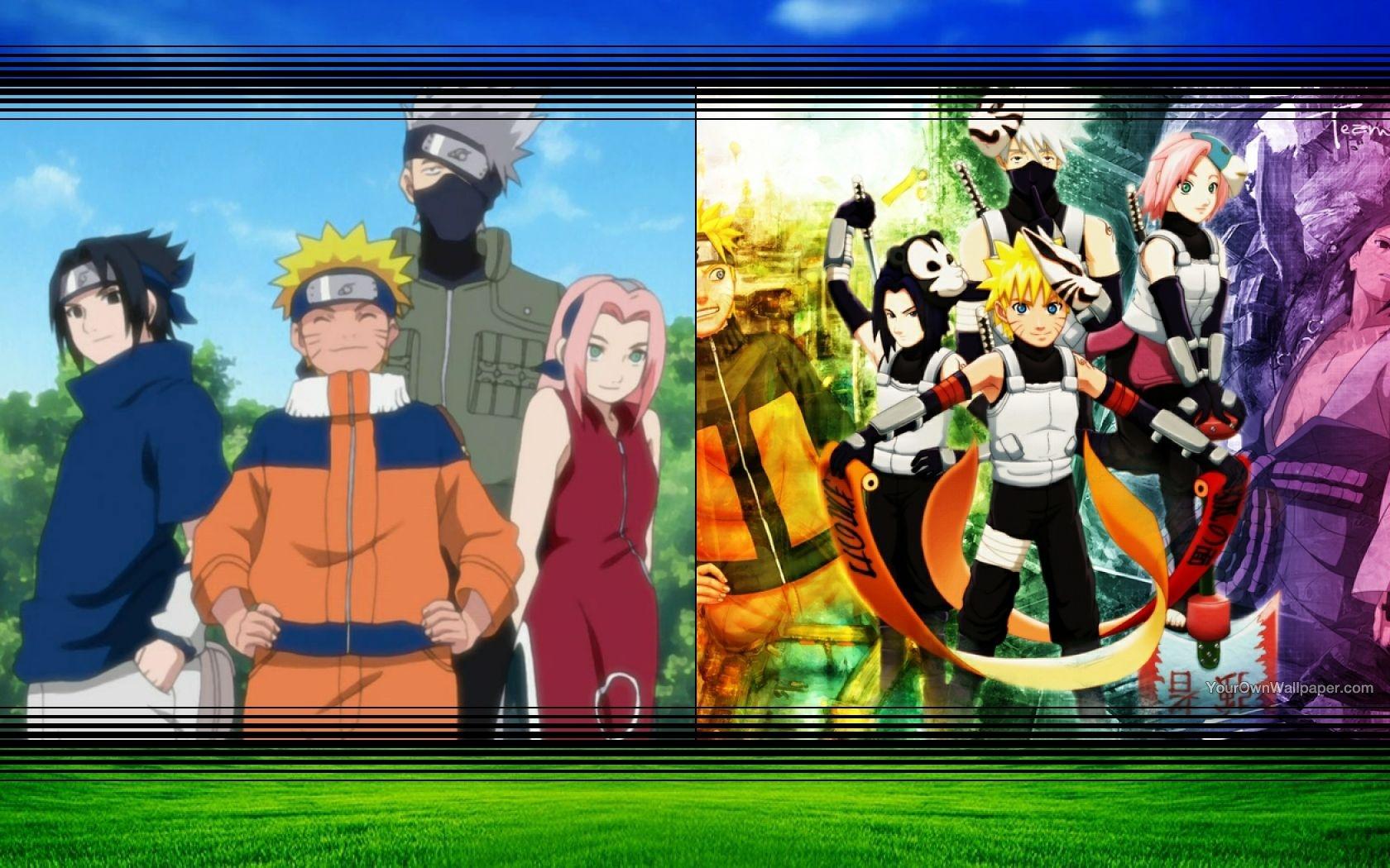 Naruto Sakura Sasuke Kakashi Wallpaper By Weissdrum On Deviantart