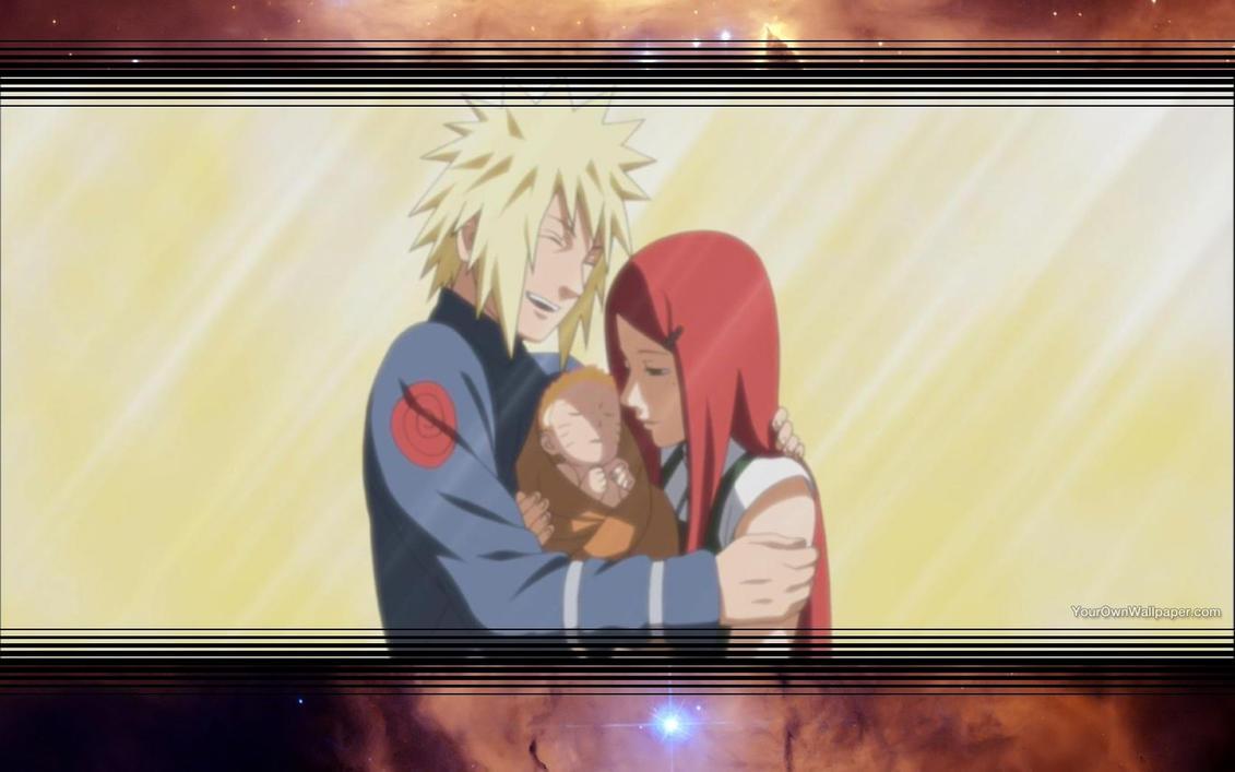 Minato and Kushina and Naruto Wallpaper