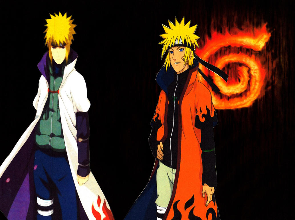 Minato And Naruto Hokage Wallpaper By Weissdrum On Deviantart