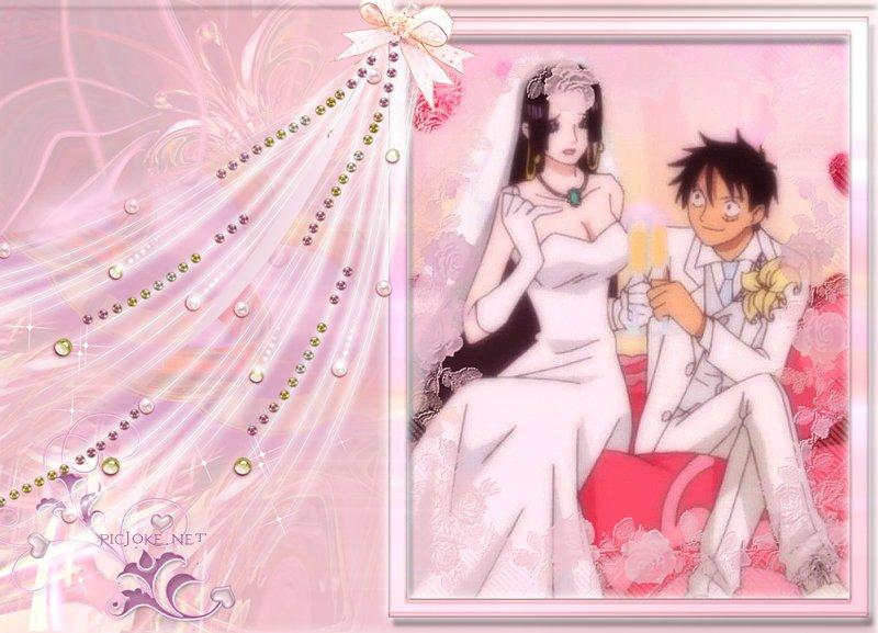 Luffy And Hancock Wedding Wallpaper By Weissdrum On DeviantArt