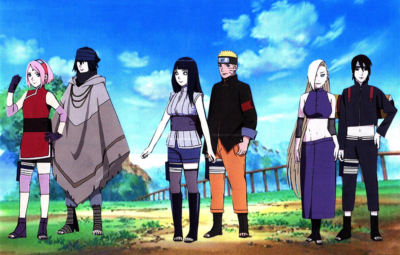 Naruto Hinata Sasuke Sakura Sai Ino Wallpaper By Weissdrum On