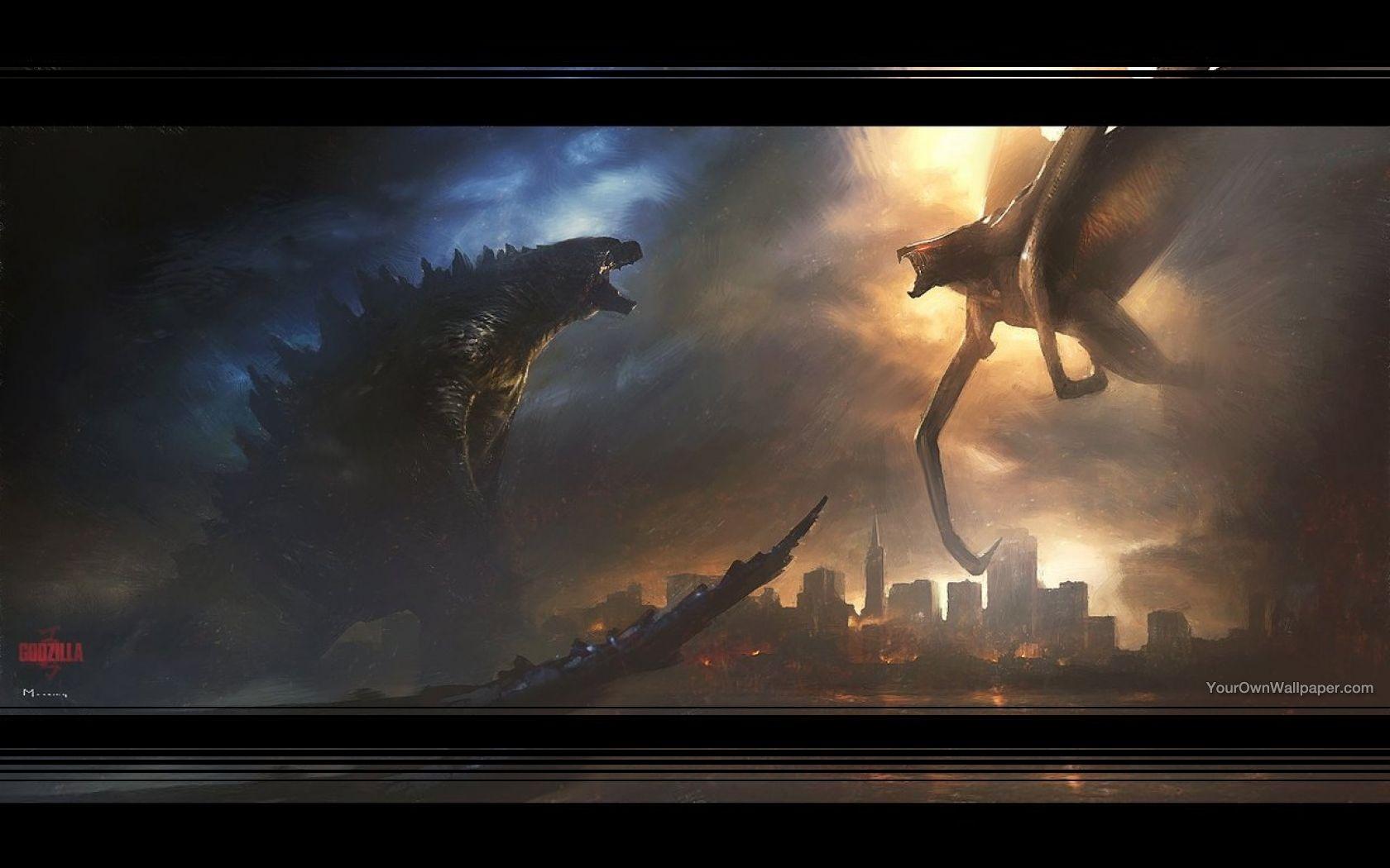 Godzilla vs Muto Wallpaper by weissdrum on DeviantArt
