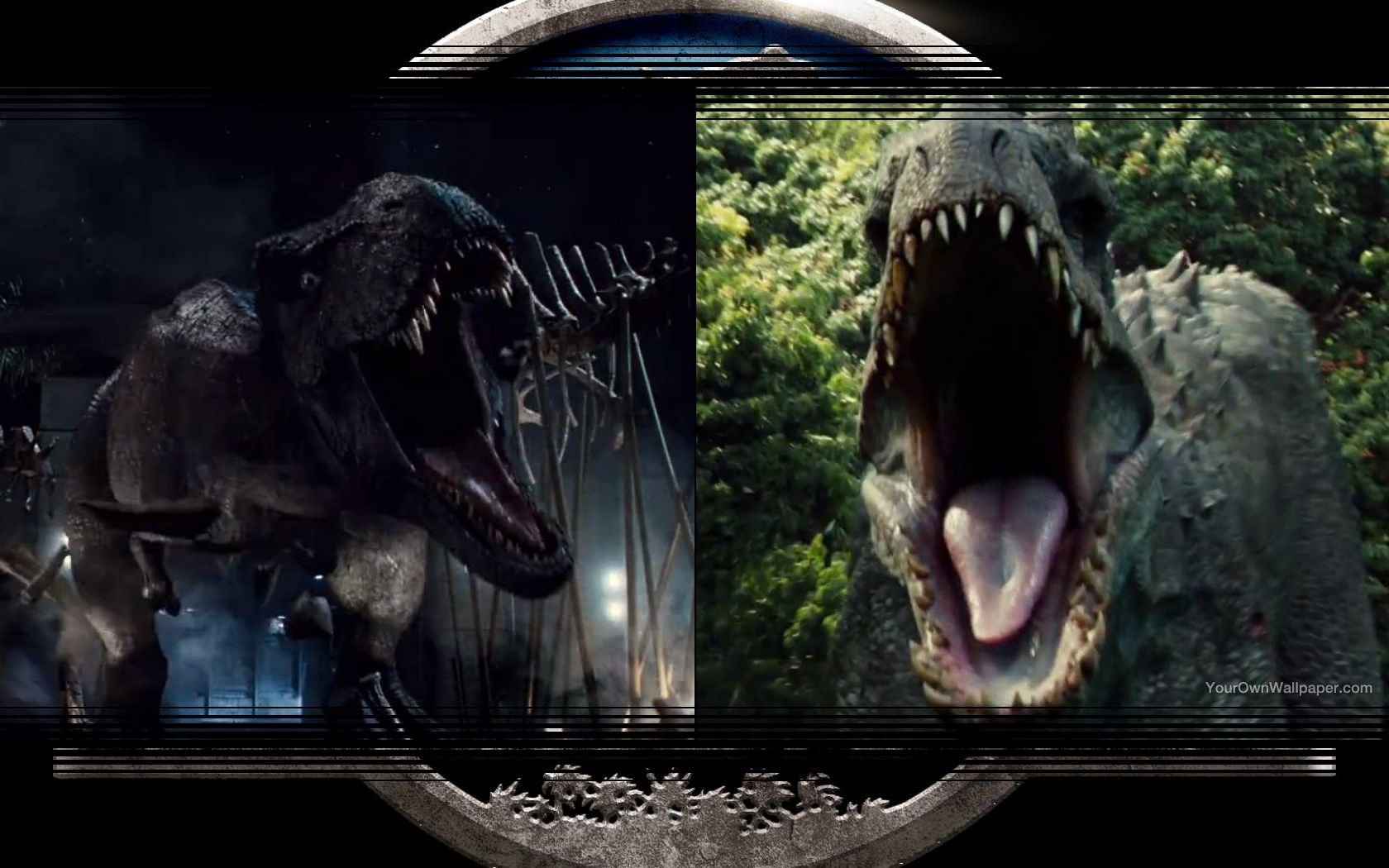 Tyrannosaurus Rex Vs Indominus Rex Wallpaper By Weissdrum On