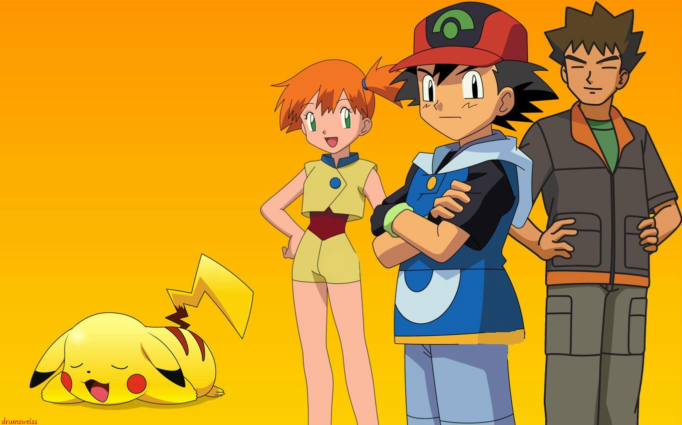 Ash, Brock, Misty and Pikachu 31120561F0 Jigsaw Puzzle - JigZone.com