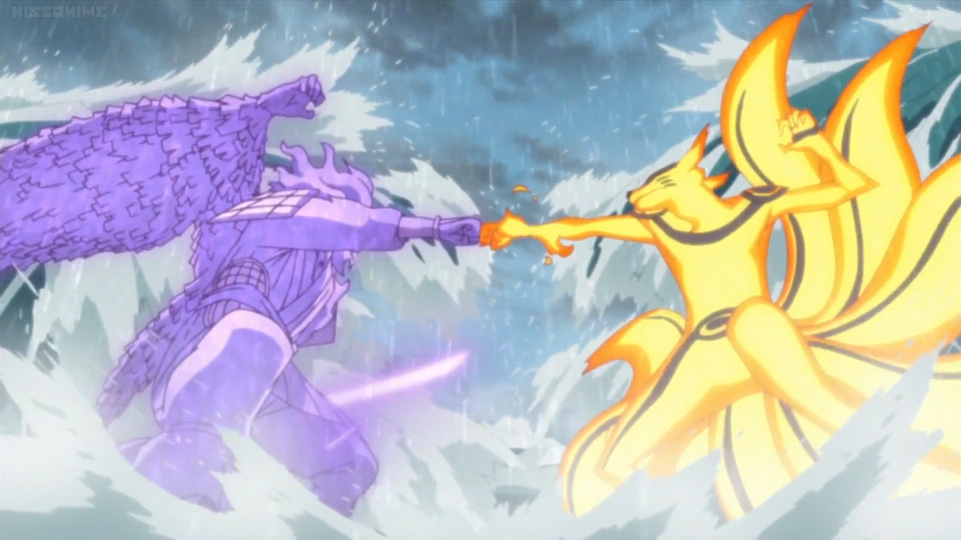 Naruto Vs Sasuke Kurama Vs Susanoo By Weissdrum On Deviantart