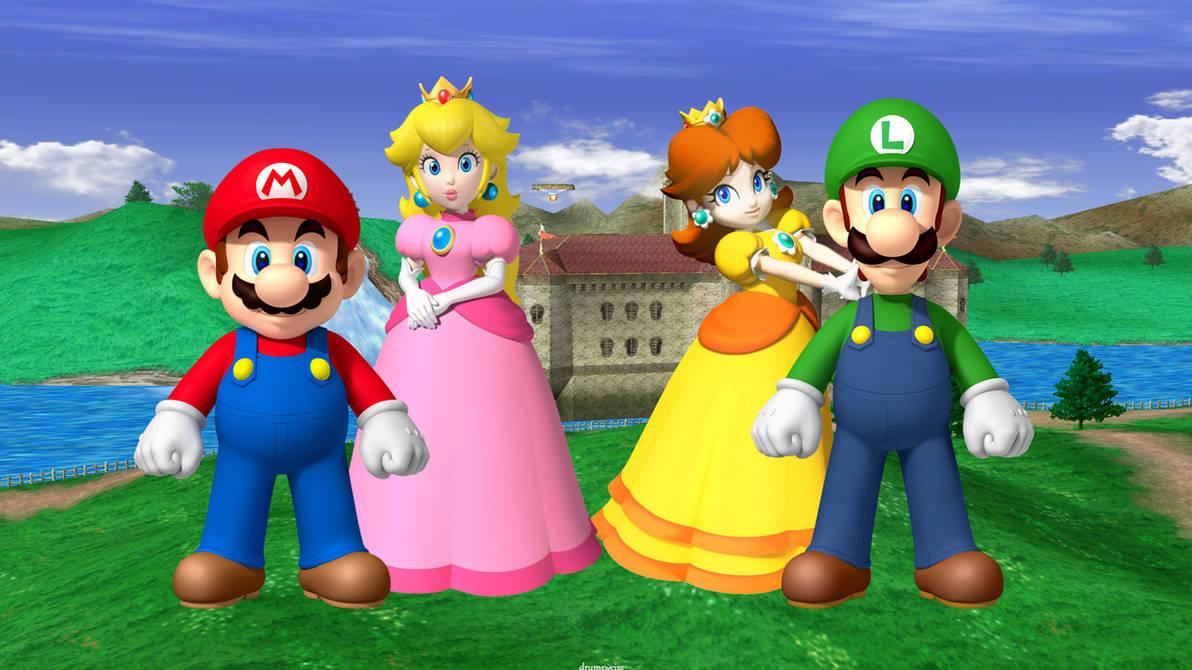Mario Peach Luigi Daisy Wallpaper by weissdrum on DeviantArt