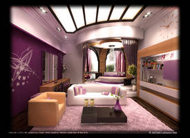 my 1st bedroom at DesignIQ by artywakeel