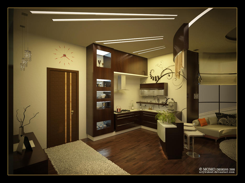 Gym livingroom and kitchenette by artywakeel on deviantart Living room gym