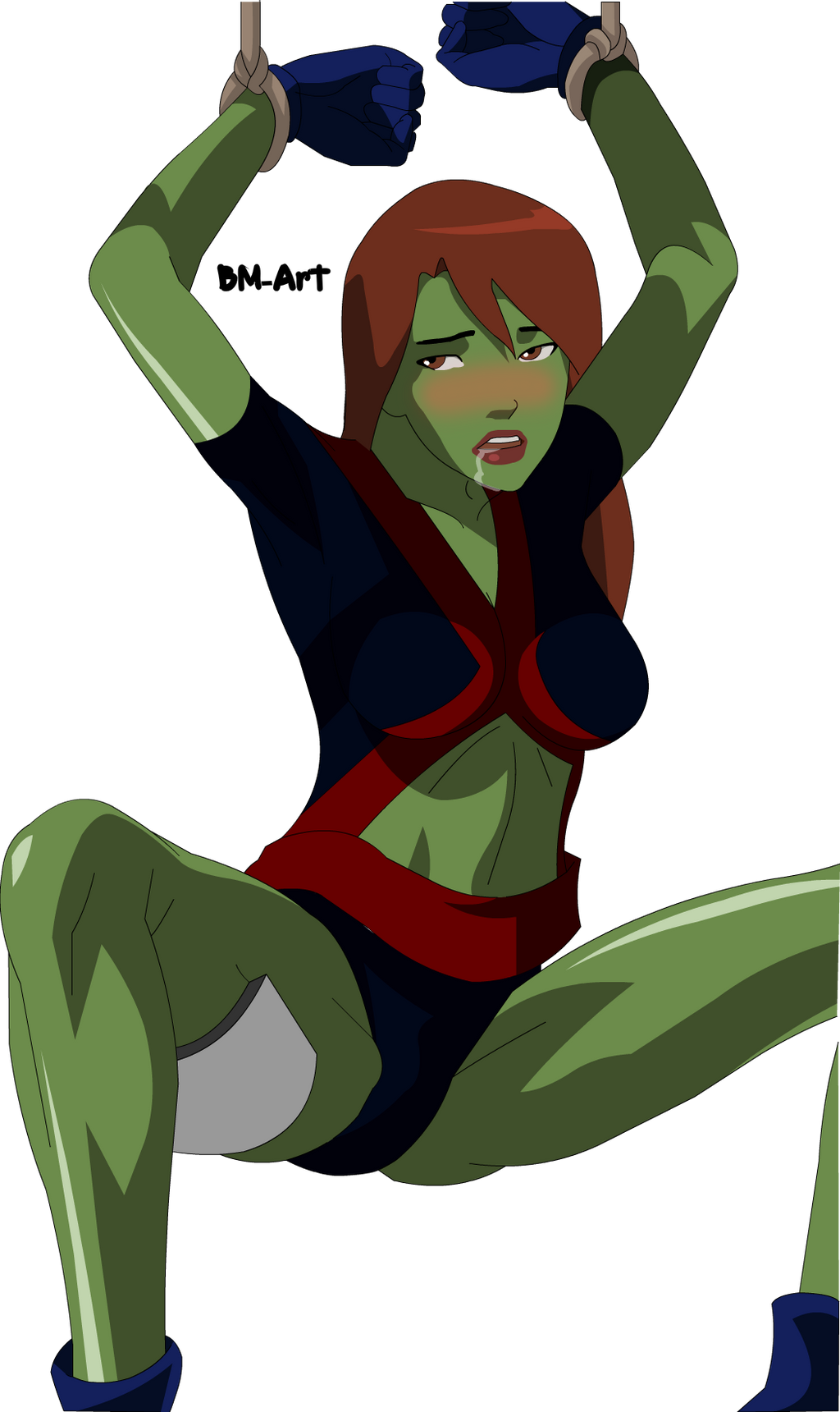 Miss Martian/Megan Morse  Sexy Young Justice by BMArt on deviantART