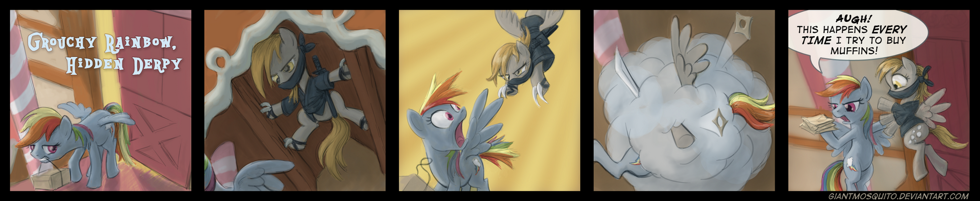 Grouchy Rainbow, Hidden Derpy by GiantMosquito