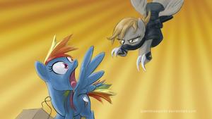 Pony ninja attack wallpaper by GiantMosquito