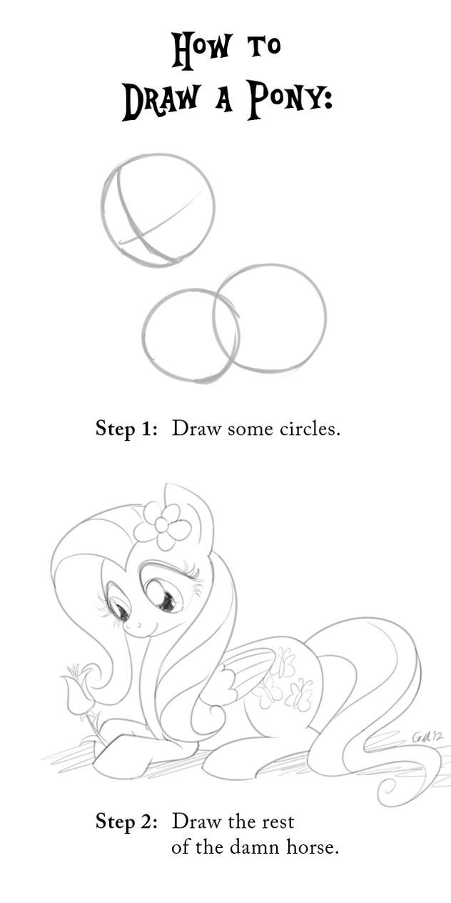 How to Draw a Pony by GiantMosquito