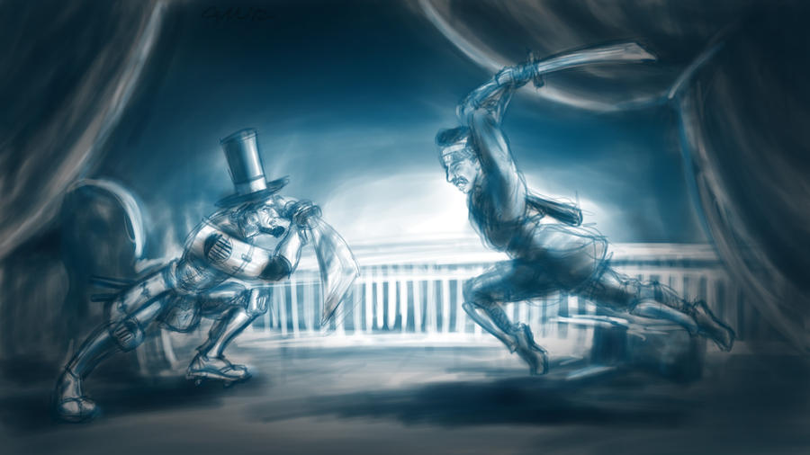 Samurai Lincoln Vs Ninja Booth By Giantmosquito On Deviantart