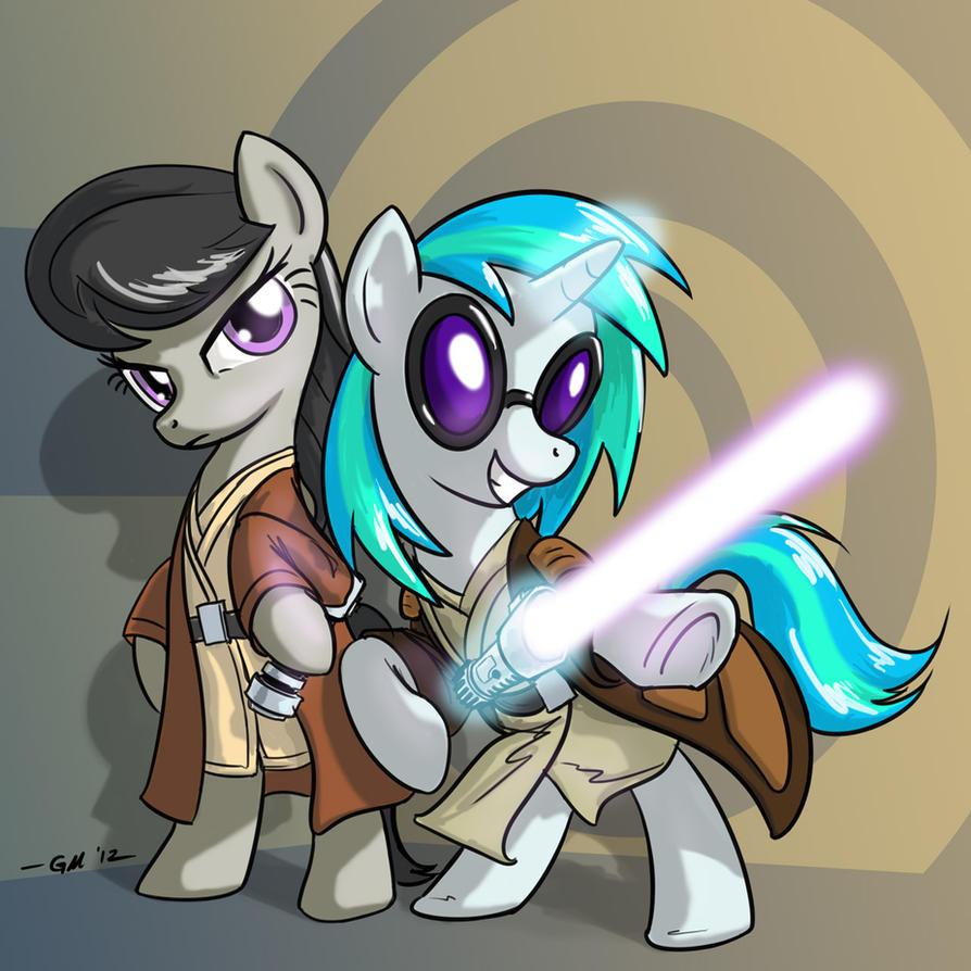 Jedi Ponies by GiantMosquito
