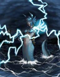Monster Girl Challenge 05 - Mermaid by GiantMosquito