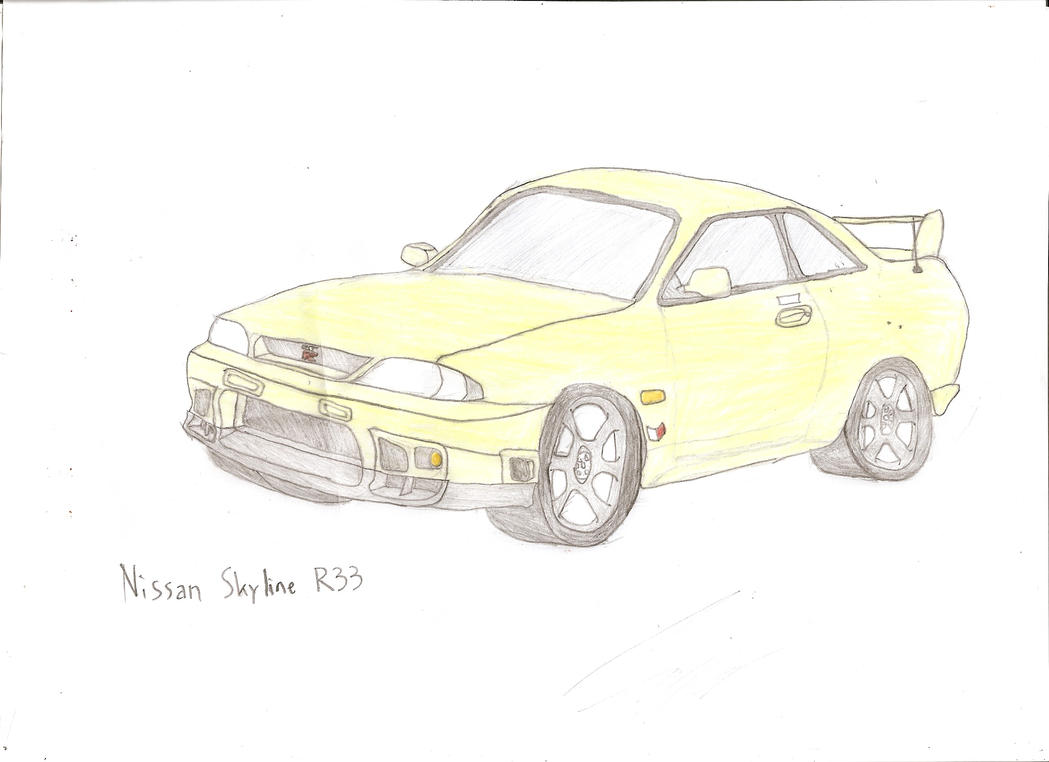 nissan r33 gtr coloring pages - photo#48
