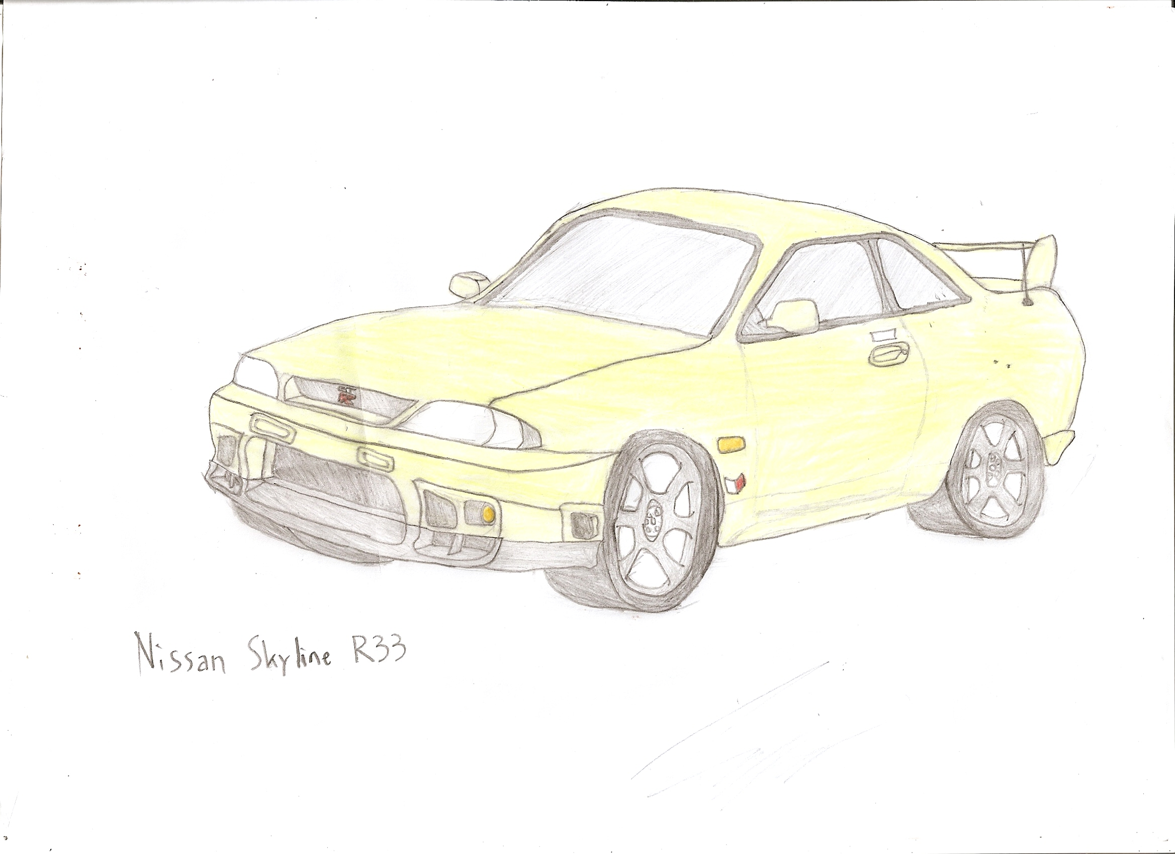 nissan r33 gtr coloring pages - photo#9