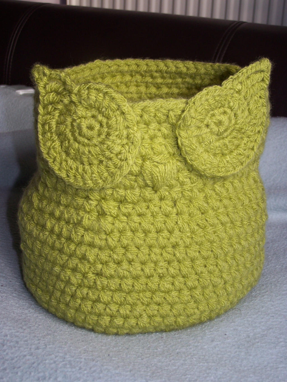 Crochet Owl Basket by Rivenia19 on DeviantArt