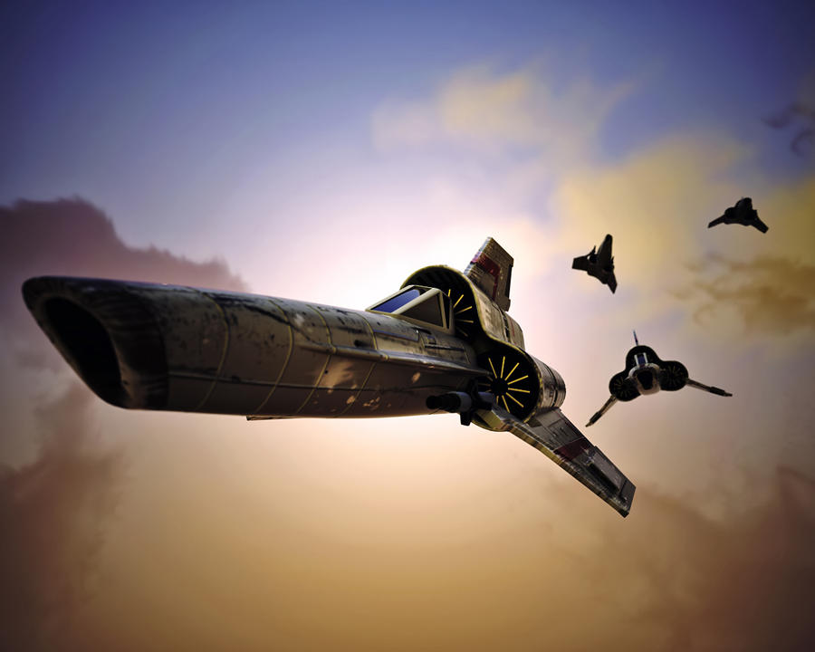 Battlestar Galactica Viper MKII by RichOBrien