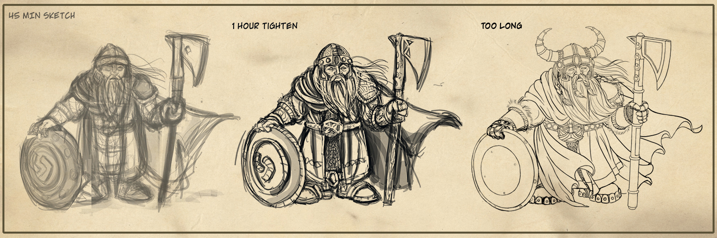 Dwarf Concept Lines by Shadowleaper