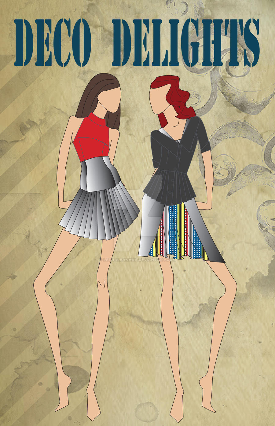 Art deco fashion illustration by lethalbanana on deviantart for Art deco illustration