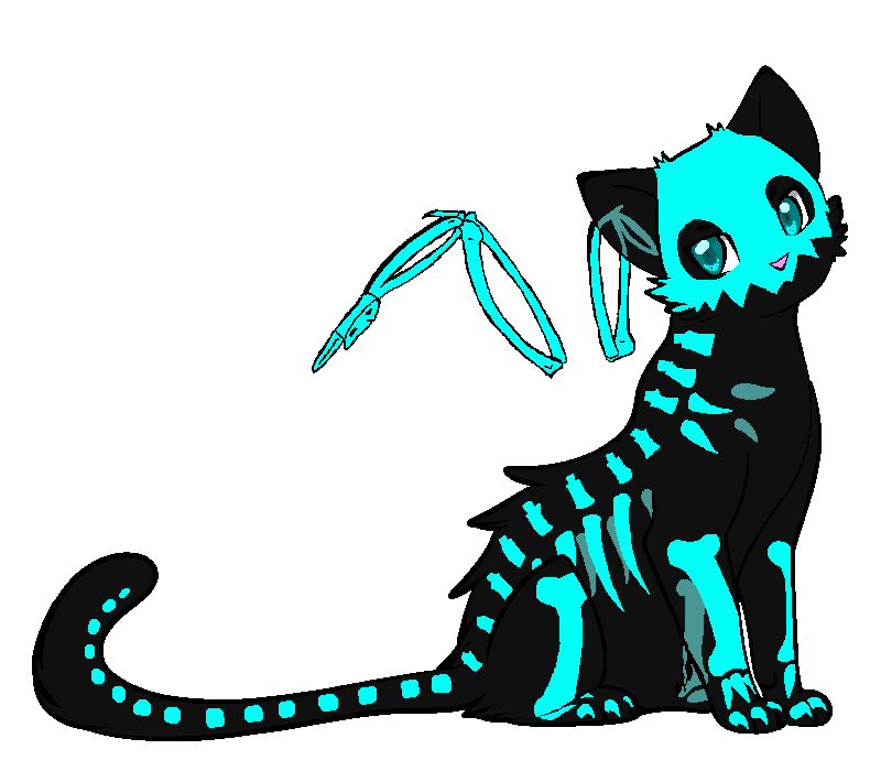 Cat Skeleton Drawing Adoptable Skeleton Cat Auction