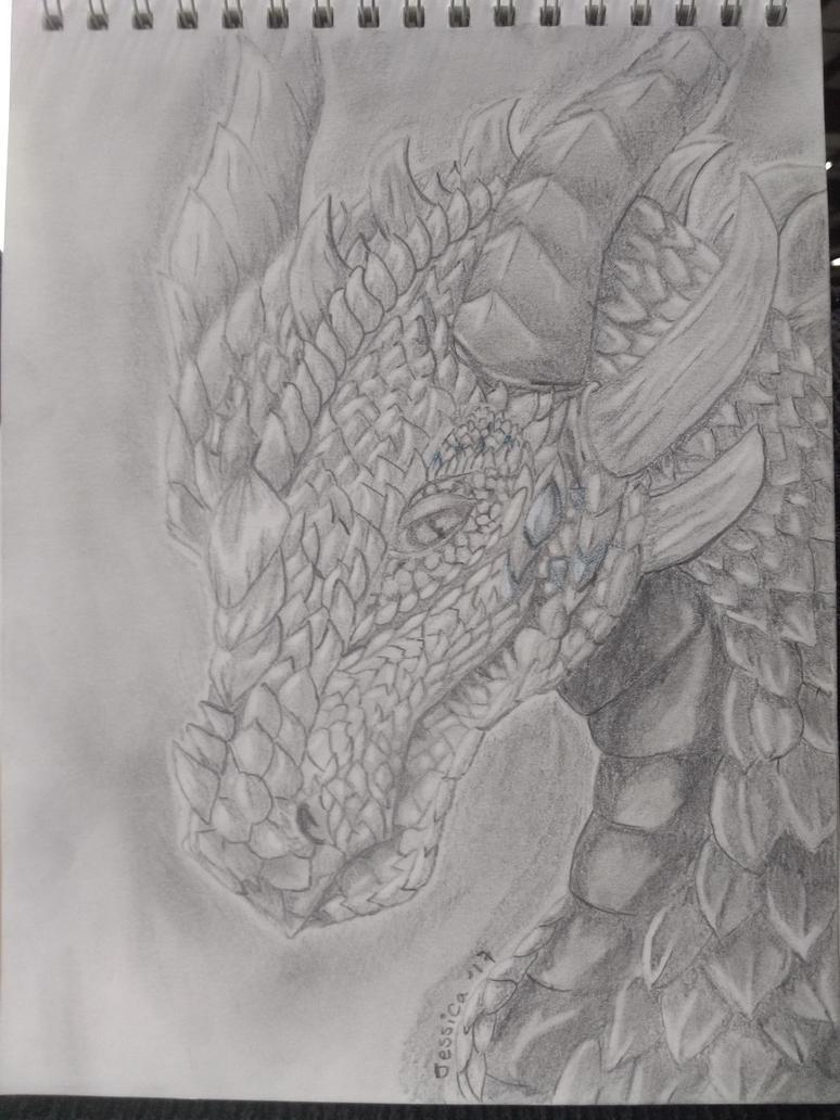 Dragon in Pencil by evillion21
