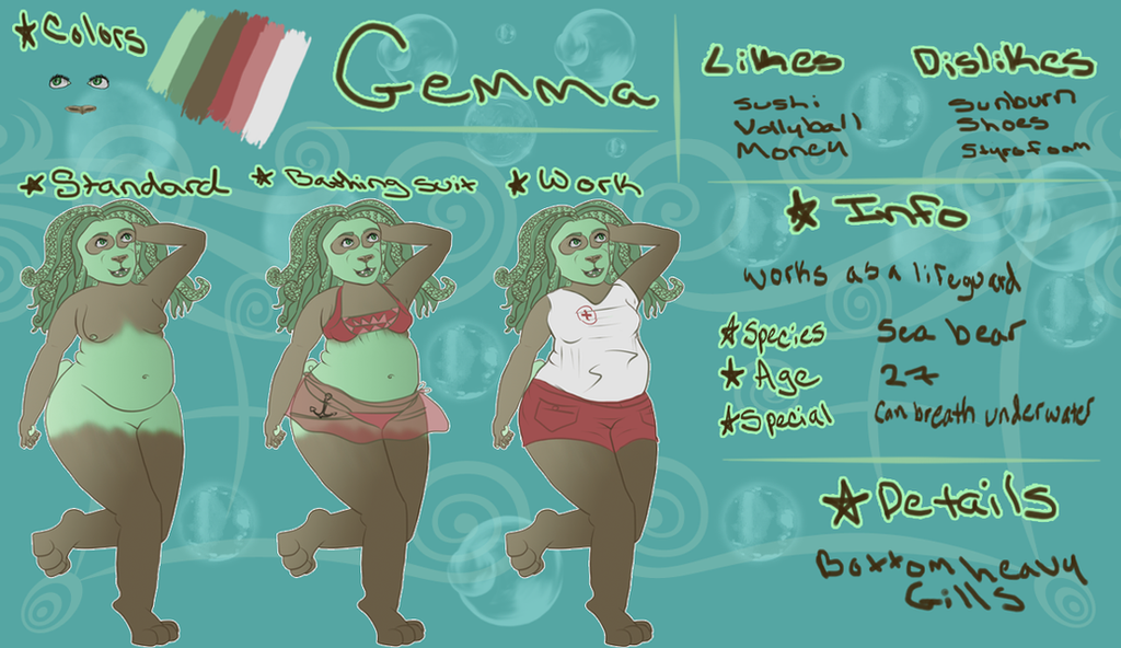 Gemma ref sheet by evillion21