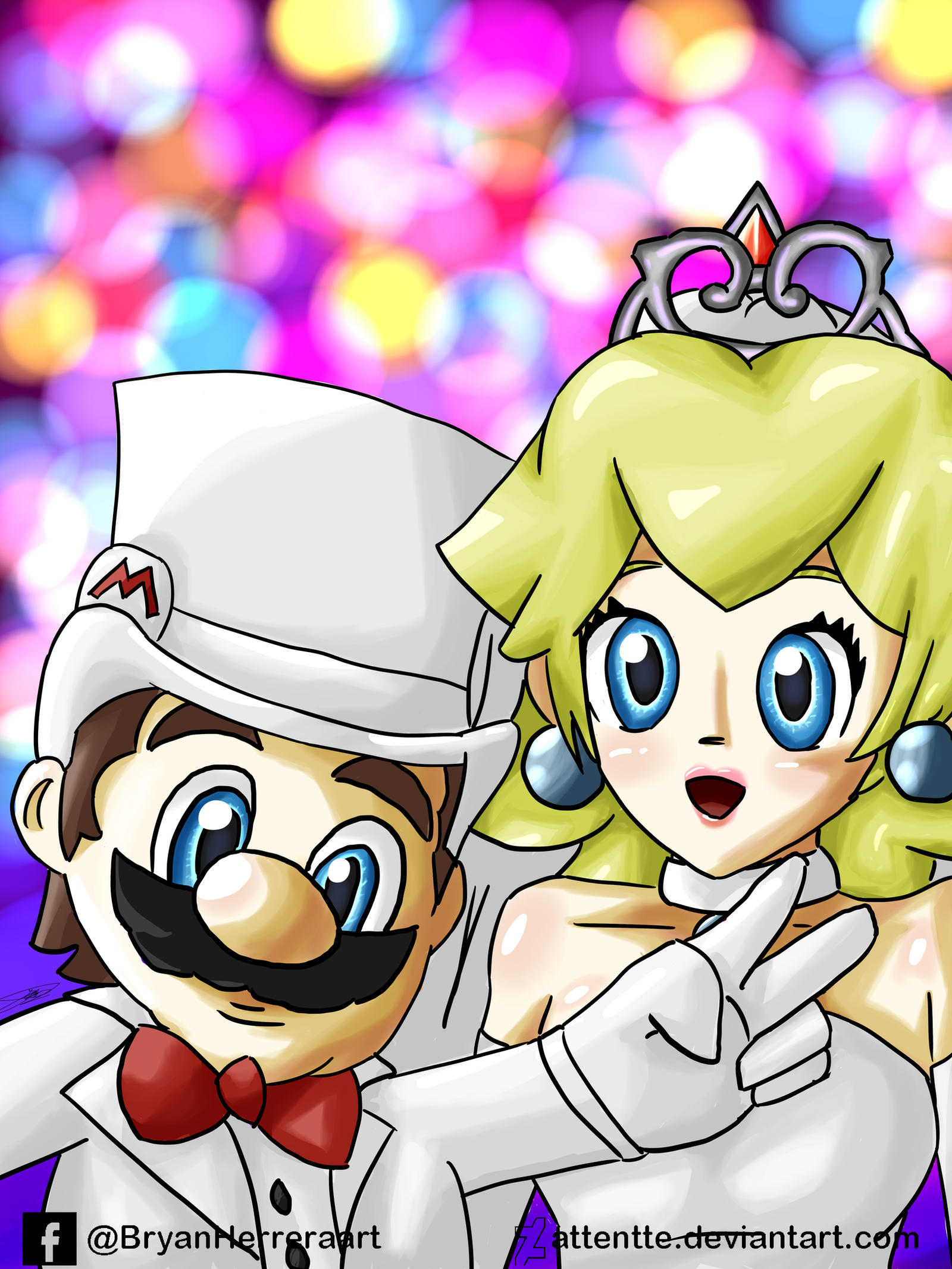 Mario and Peach Wedding by Attentte on DeviantArt