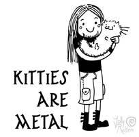 Kitties are metal by Kritzelkrams