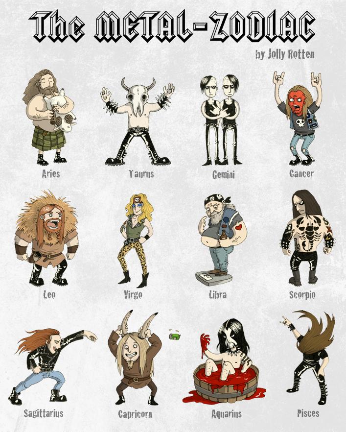 Metal Zodiac by JollyRotten