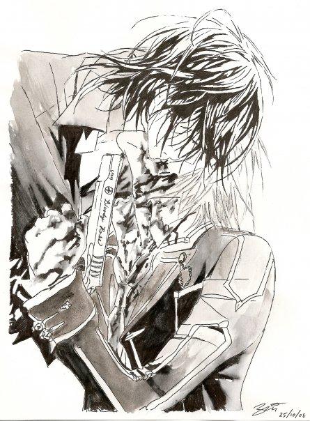 Vampire Knight - Zero bites Kaname Kuran