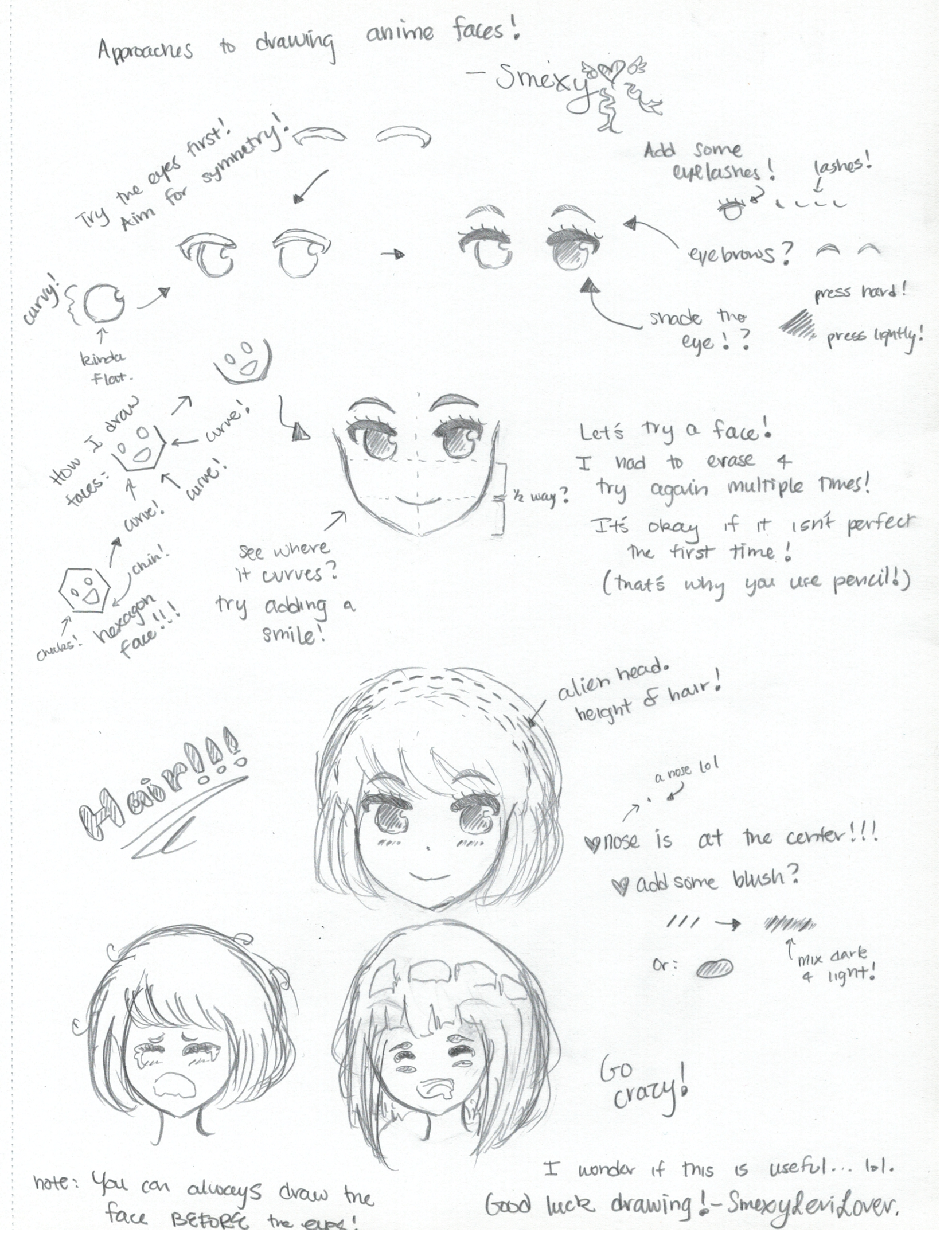 Smexyu0026#39;s Anime Face Tutorial (attempt 1) By SmexyViButt On DeviantArt