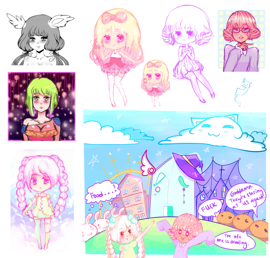 11-12-15 Sketch Dump Galore by ViPOP on DeviantArt