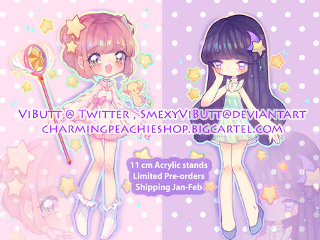 3 pairs left! CCS Acrylic stands!