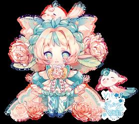 Plushie Peony   Fairy Vials