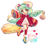 Golden Honey Marmot   Fairy Vials