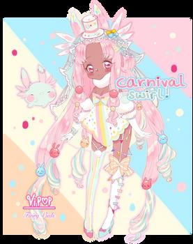 Carnival Swirl   Fairy Vial Custom