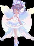 The Seafoam Sky Ballerina   Fairy Vials