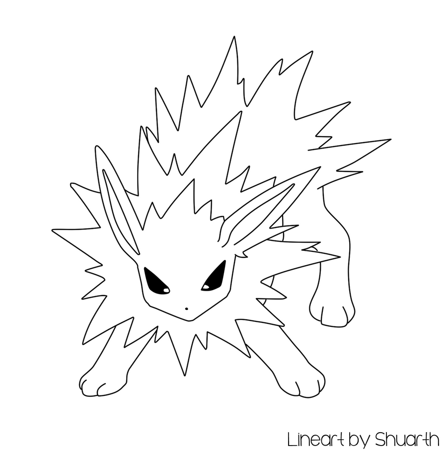 Pokemon Jolteon Lineart By Shuarth On Deviantart