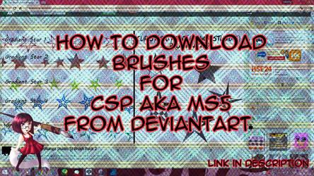[VIDEO TUTORIAL] How to Download Brushes for CSP by Katarina-Kirishiki