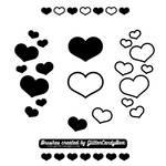 GCB Heart Brushes