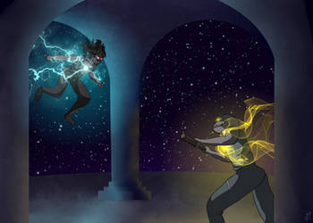 A Duel Between Gods [Contest Entry] by JadenTamashi